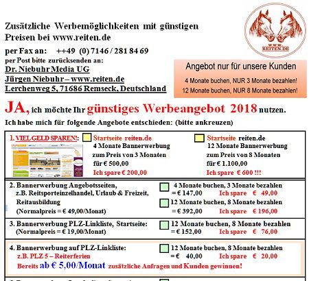 Bannerwerbung Content Linkeinträge reiten.de 2018