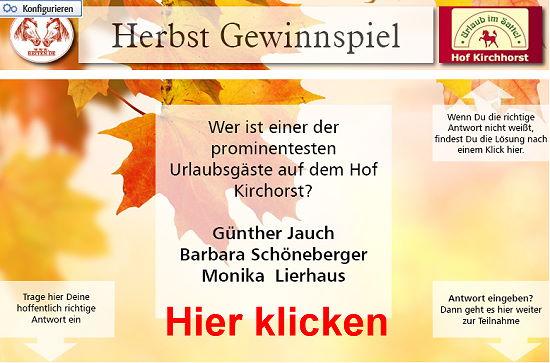 Herbst Gewinnspiel bei reiten.de - Jetzt teilnehmen und mit etwas Glück traumhaften Reiturlaub gewinnen.