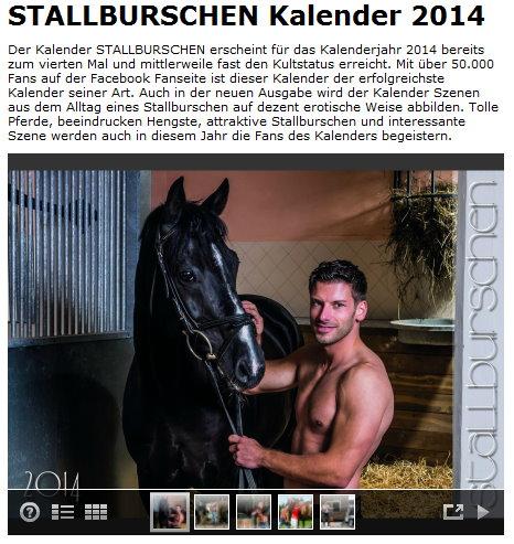 Stallburschen Kalender 2014