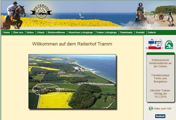 Reiterhof Tramm, Reiturlaub, Reitabzeichen an der Ostsee - Schleswig-Holstein