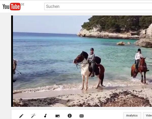 Video * Reiten auf Mallorca - Strandreiten - Reiten im Gelände