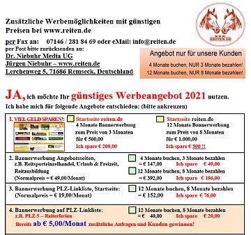 Bannerwerbung Content Linkeinträge reiten.de