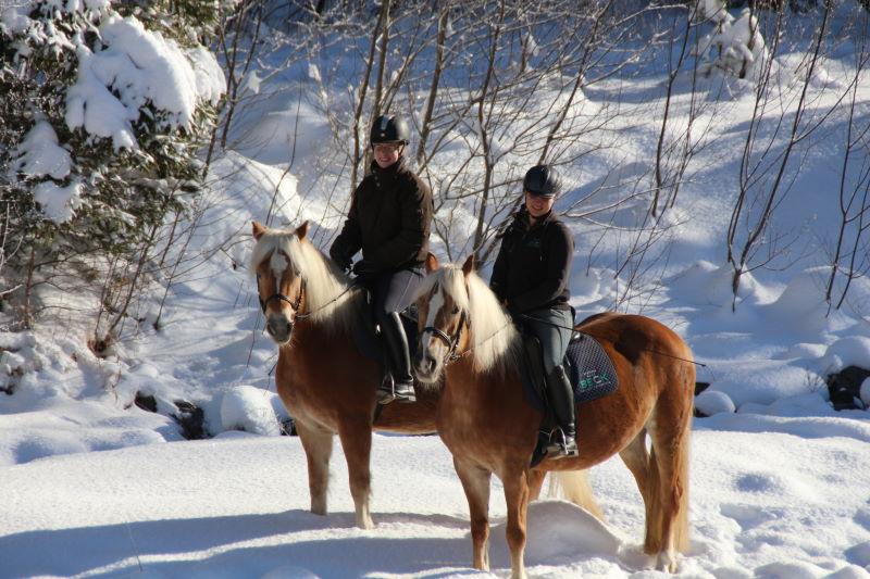Reiten und gemeinsam Winterurlaub machen