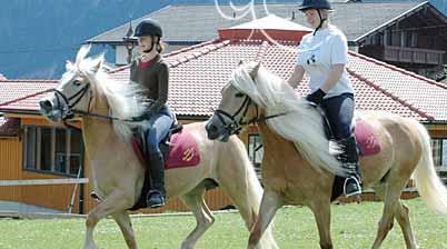Auf den Pferden im Reiturlaub in Tirol