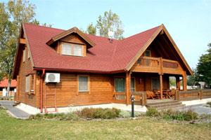 Unser Holzhaus vom Sarlspuszta Club Hotel