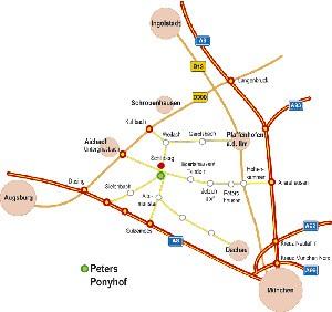 Karte zu unserem Peter`s Ponyhof und Reiterhof