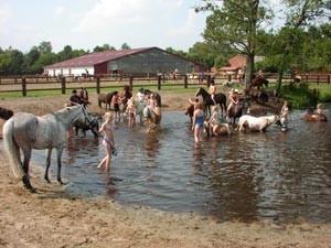 nasser Spaß für Pferd und Reiter