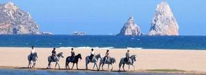 Strandritt am Mittelmeer